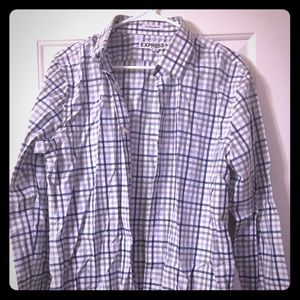 Men's Express Plaid Button Down Shirt